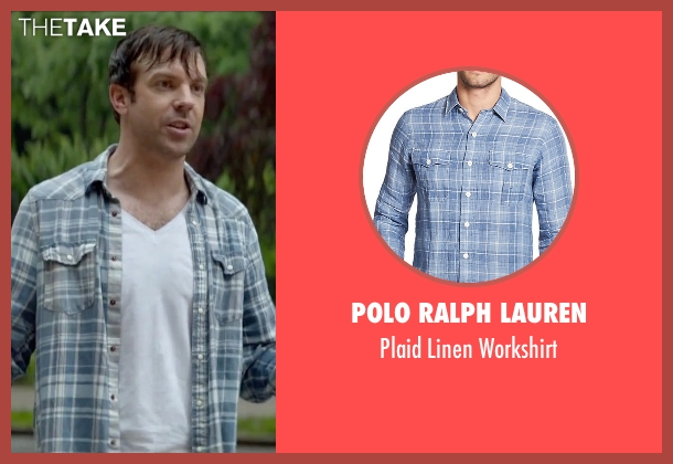 Polo Ralph Lauren blue workshirt from Sleeping with Other People seen with Jason Sudeikis (Jake)