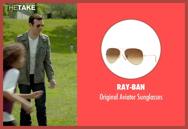 Ray-Ban gold sunglasses from Sleeping with Other People seen with Jason Sudeikis (Jake)