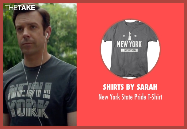 Shirts by Sarah gray t-shirt from Sleeping with Other People seen with Jason Sudeikis (Jake)