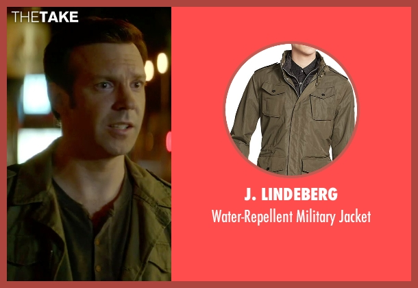 J. Lindeberg green jacket from Sleeping with Other People seen with Jason Sudeikis (Jake)