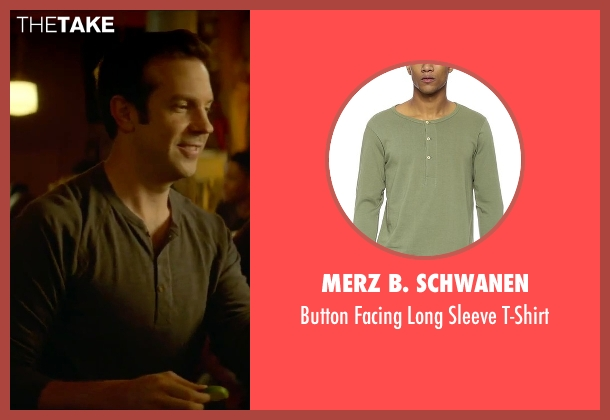 Merz B. Schwanen green t-shirt from Sleeping with Other People seen with Jason Sudeikis (Jake)