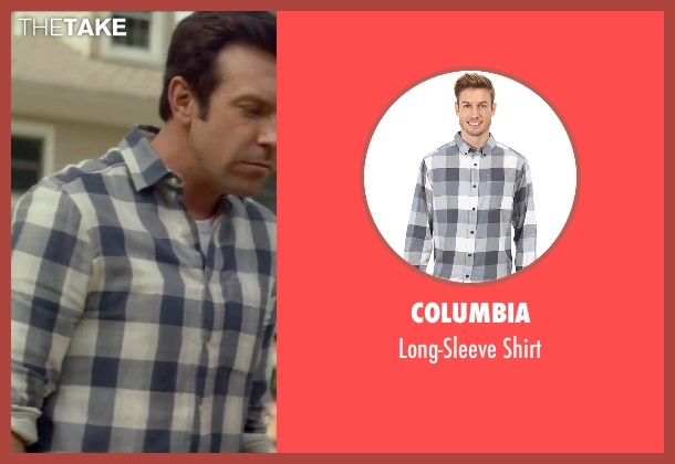 Columbia white shirt from Sleeping with Other People seen with Jason Sudeikis (Jake)