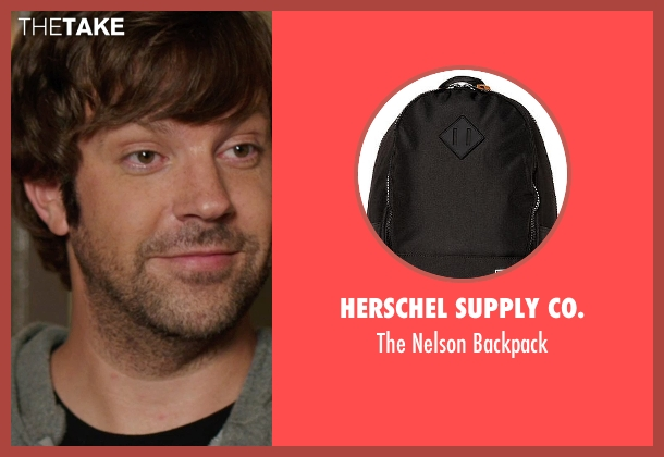 Herschel Supply Co. black backpack from We're the Millers seen with Jason Sudeikis (David Clark)