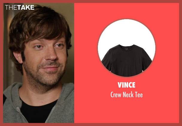 Vince black tee from We're the Millers seen with Jason Sudeikis (David Clark)