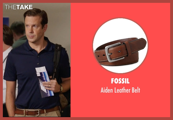Fossil brown belt from We're the Millers seen with Jason Sudeikis (David Clark)
