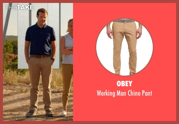 Obey brown pant from We're the Millers seen with Jason Sudeikis (David Clark)