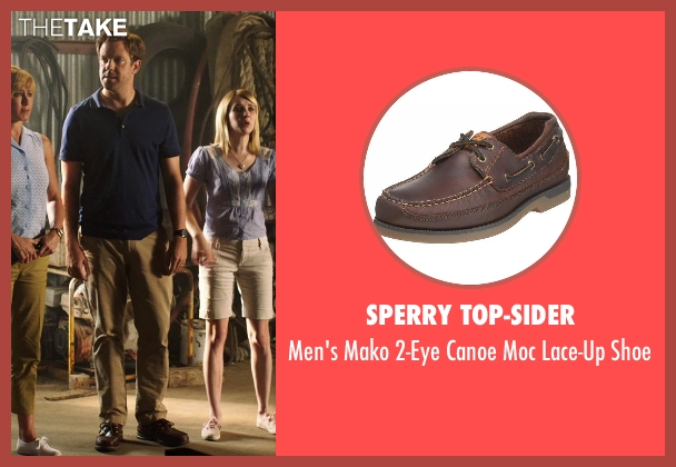 Sperry Top-Sider brown shoe from We're the Millers seen with Jason Sudeikis (David Clark)