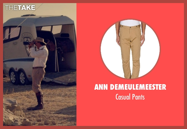 Ann Demeulemeester beige pants from The Counselor seen with Javier Bardem (Reiner)