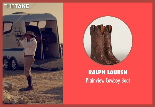 Ralph Lauren brown boot from The Counselor seen with Javier Bardem (Reiner)