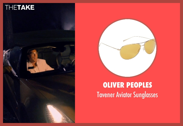 Oliver Peoples gold sunglasses from The Counselor seen with Javier Bardem (Reiner)