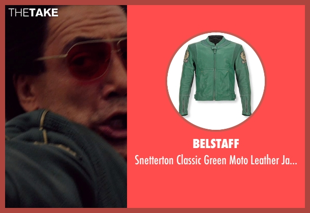 Belstaff green jacket from The Counselor seen with Javier Bardem (Reiner)