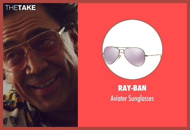 Ray-Ban pink sunglasses from The Counselor seen with Javier Bardem (Reiner)