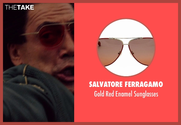 Salvatore Ferragamo red sunglasses from The Counselor seen with Javier Bardem (Reiner)