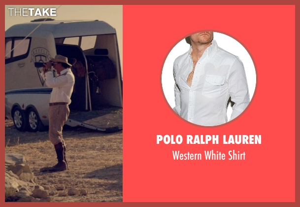 Polo Ralph Lauren white shirt from The Counselor seen with Javier Bardem (Reiner)