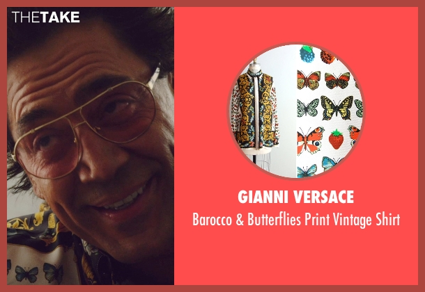 Gianni Versace yellow shirt from The Counselor seen with Javier Bardem (Reiner)