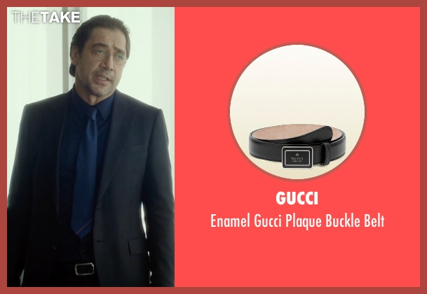 Gucci black belt from The Gunman seen with Javier Bardem (Felix)
