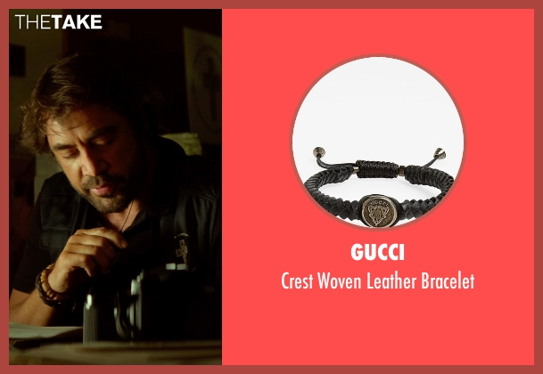 Gucci black bracelet from The Gunman seen with Javier Bardem (Felix)
