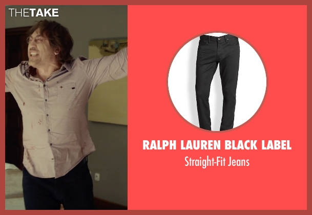 Ralph Lauren Black Label black jeans from The Gunman seen with Javier Bardem (Felix)