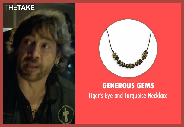 Generous Gems black necklace from The Gunman seen with Javier Bardem (Felix)