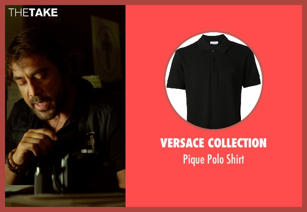 Versace Collection black shirt from The Gunman seen with Javier Bardem (Felix)