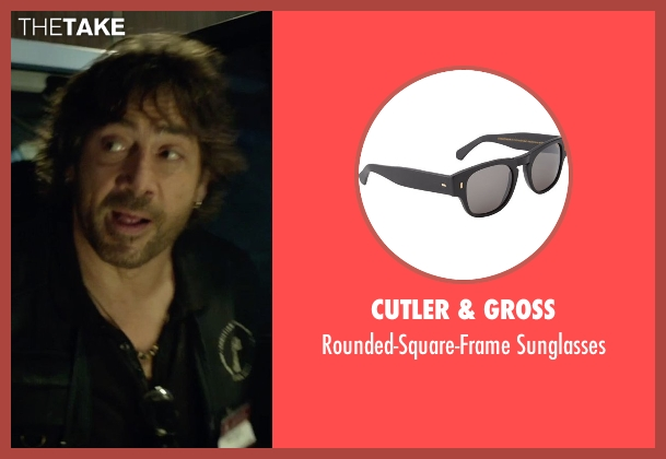 Cutler & Gross black sunglasses from The Gunman seen with Javier Bardem (Felix)