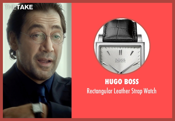 Hugo Boss black watch from The Gunman seen with Javier Bardem (Felix)