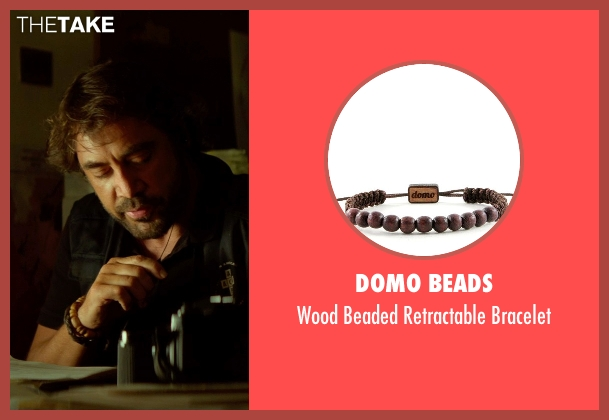 Domo Beads brown bracelet from The Gunman seen with Javier Bardem (Felix)