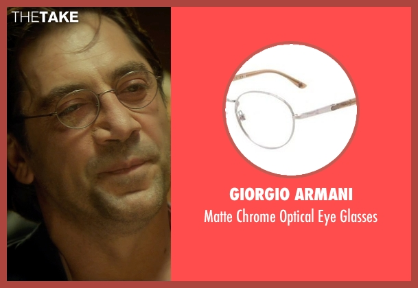 Giorgio Armani glasses from The Gunman seen with Javier Bardem (Felix)