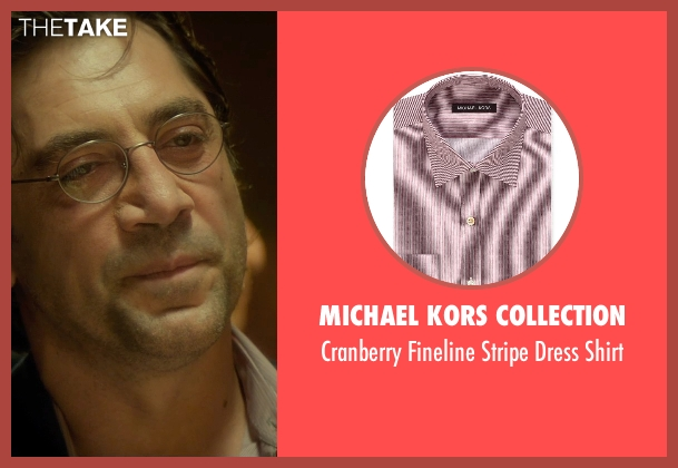 Michael Kors Collection pink shirt from The Gunman seen with Javier Bardem (Felix)