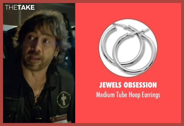 Jewels Obsession silver earrings from The Gunman seen with Javier Bardem (Felix)