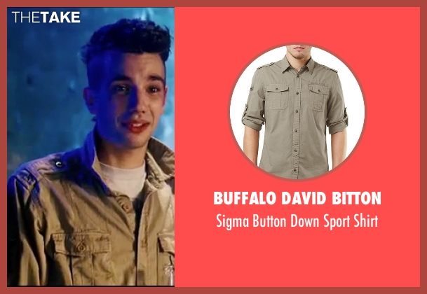 Buffalo David Bitton beige shirt from Knocked Up seen with Jay Baruchel (Jay)