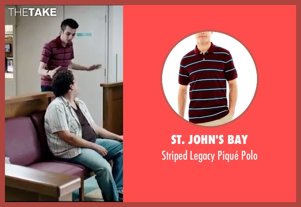 St. John's Bay red polo from Knocked Up seen with Jay Baruchel (Jay)