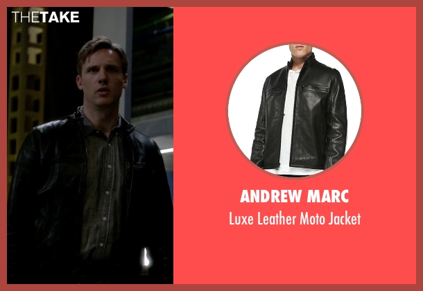 Andrew Marc black jacket from The Flash seen with Jay Garrick (Teddy Sears)