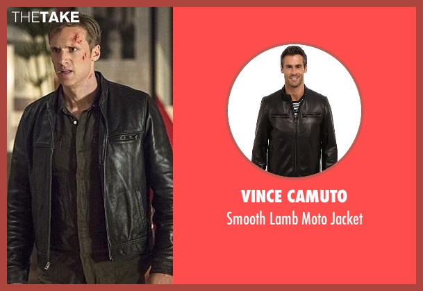 Vince Camuto black jacket from The Flash seen with Jay Garrick (Teddy Sears)