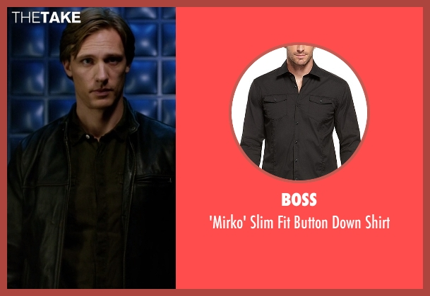 Boss black shirt from The Flash seen with Jay Garrick (Teddy Sears)