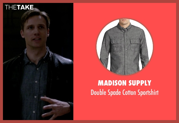Madison Supply gray sportshirt from The Flash seen with Jay Garrick (Teddy Sears)
