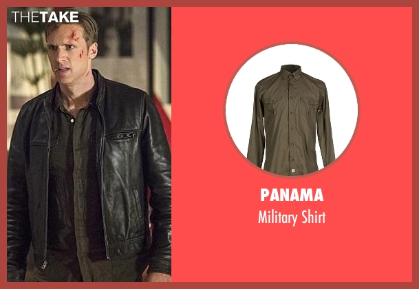 Panama green shirt from The Flash seen with Jay Garrick (Teddy Sears)