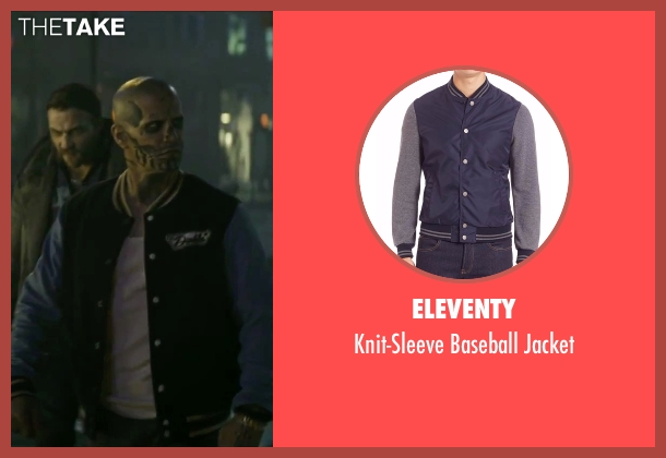 Eleventy blue jacket from Suicide Squad seen with Jay Hernandez (Chato Santana / El Diablo)