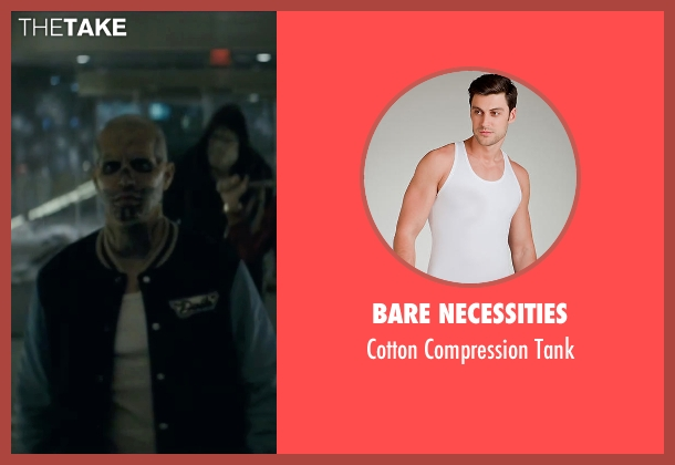 Bare Necessities white tank from Suicide Squad seen with Jay Hernandez (Chato Santana / El Diablo)
