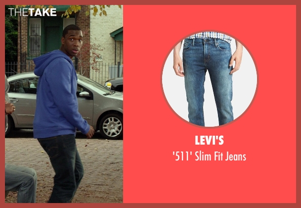 Levi's blue jeans from Ride Along seen with Jay Pharoah (Runflat)