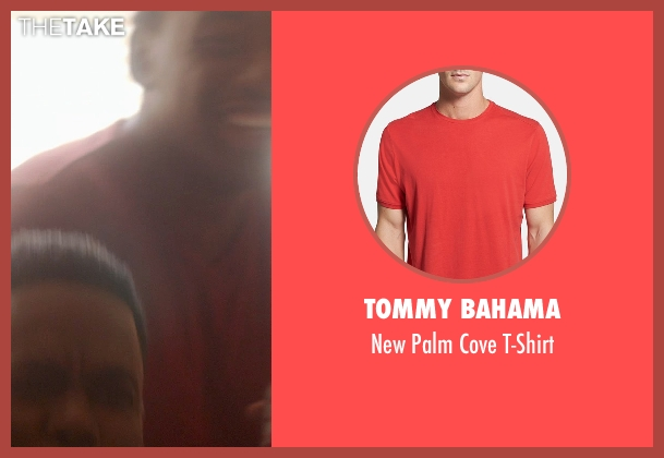 Tommy Bahama red t-shirt from Top Five seen with Jay Pharoah (Mike)