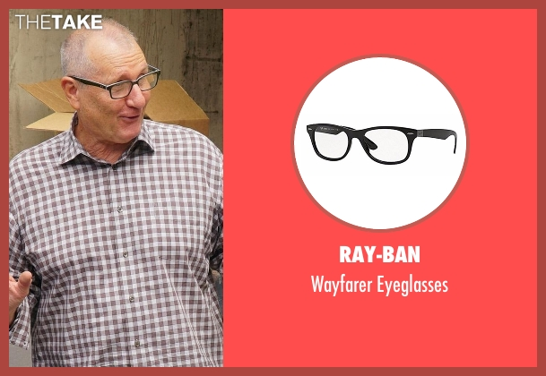 Ray-Ban black eyeglasses from Modern Family seen with Jay Pritchett (Ed O'Neill)