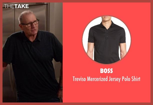 Boss black shirt from Modern Family seen with Jay Pritchett (Ed O'Neill)