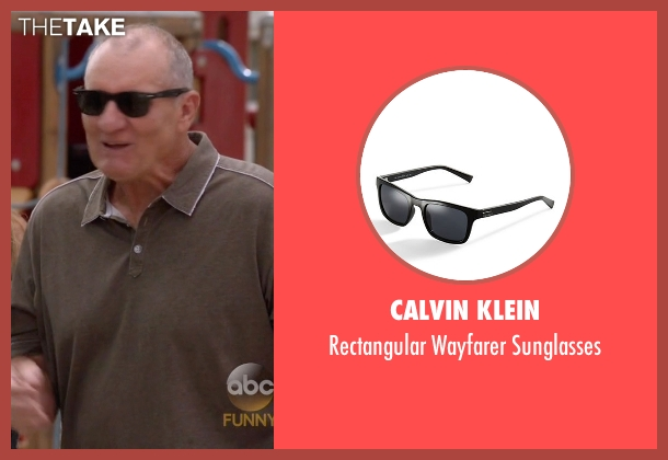 Calvin Klein black sunglasses from Modern Family seen with Jay Pritchett (Ed O'Neill)