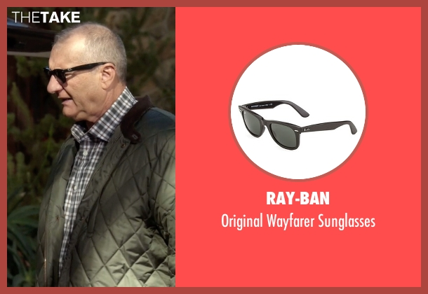 Ed Ray Ban Sunglasses  jay pritchett s black ray ban original wayfarer sunglasses from