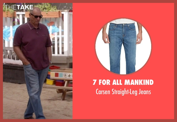 7 For All Mankind blue jeans from Modern Family seen with Jay Pritchett (Ed O'Neill)