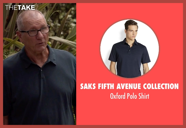 Saks Fifth Avenue Collection blue shirt from Modern Family seen with Jay Pritchett (Ed O'Neill)