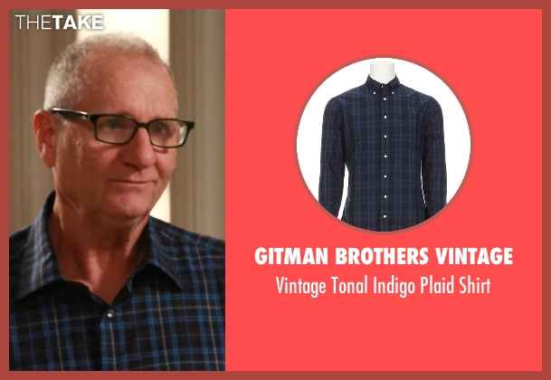 Gitman Brothers Vintage blue shirt from Modern Family seen with Jay Pritchett (Ed O'Neill)