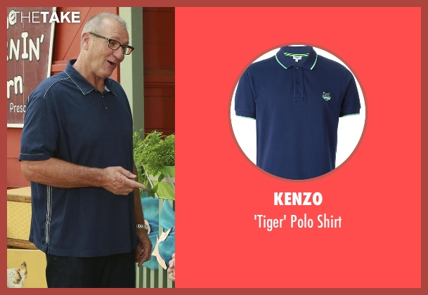Kenzo blue shirt from Modern Family seen with Jay Pritchett (Ed O'Neill)
