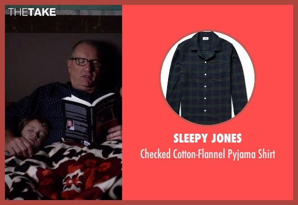 Sleepy Jones blue shirt from Modern Family seen with Jay Pritchett (Ed O'Neill)